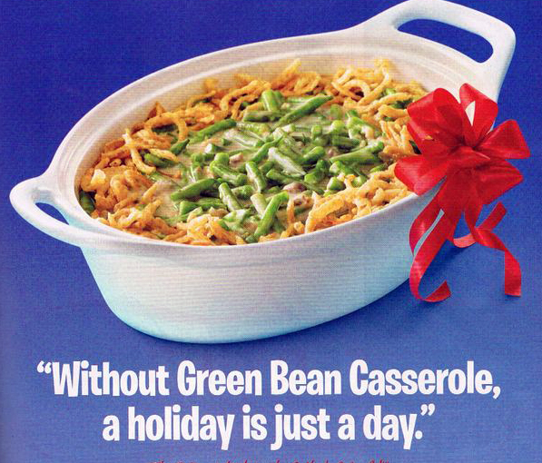 Vintage Green Bean Casserole Ad