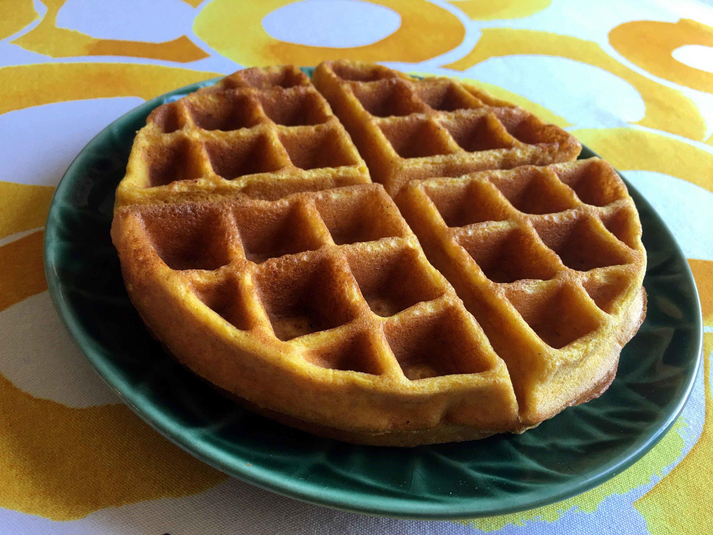 Low Carb Keto Pumpkin Waffle Recipe