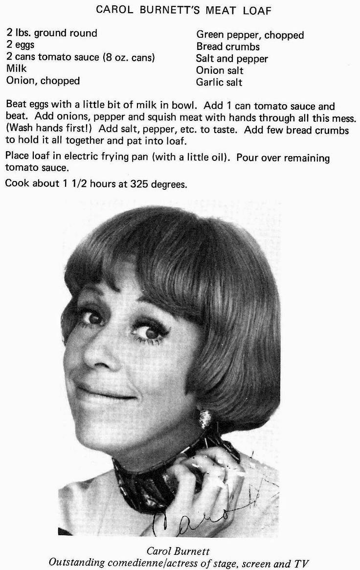 Carol Burnett Meatloaf Recipe