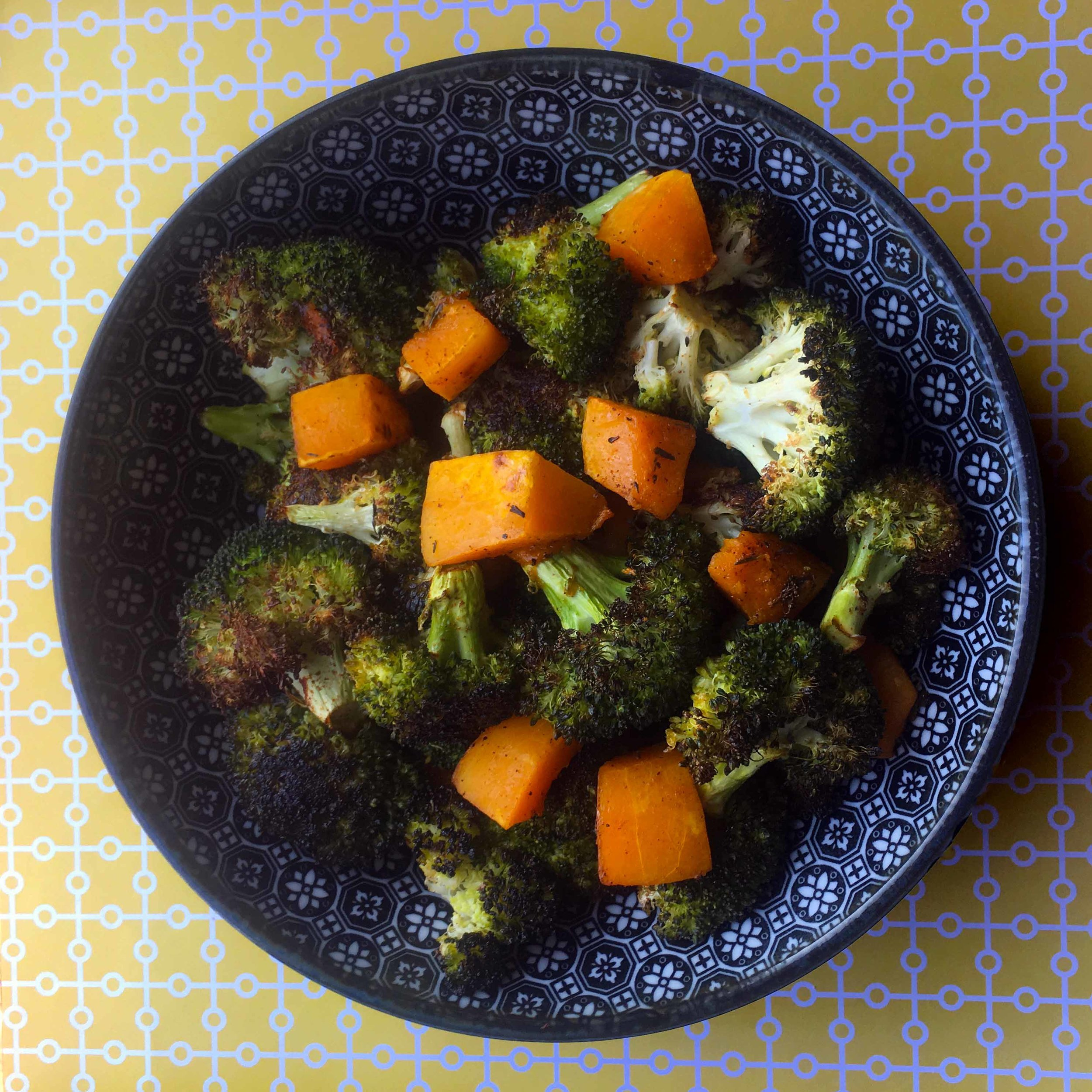 Roasted Broccoli and Butternut Squash Recipe