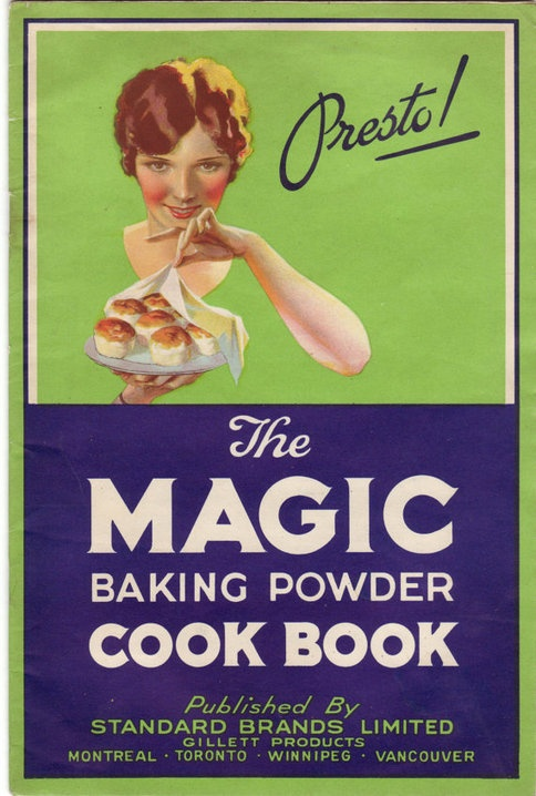 Old Vintage Magic Baking Powder Cook Book Ad