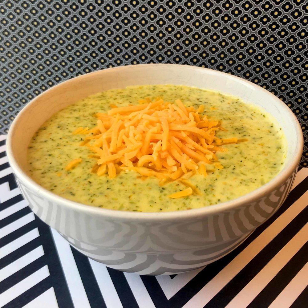 Low Carb Keto Broccoli Cheese Soup Recipe