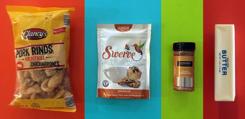 Low Carb Cinnamon Twists Recipe Ingredients