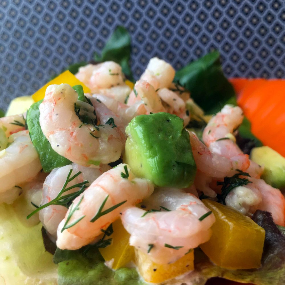 Low Carb Shrimp and Avocado Salad Recipe