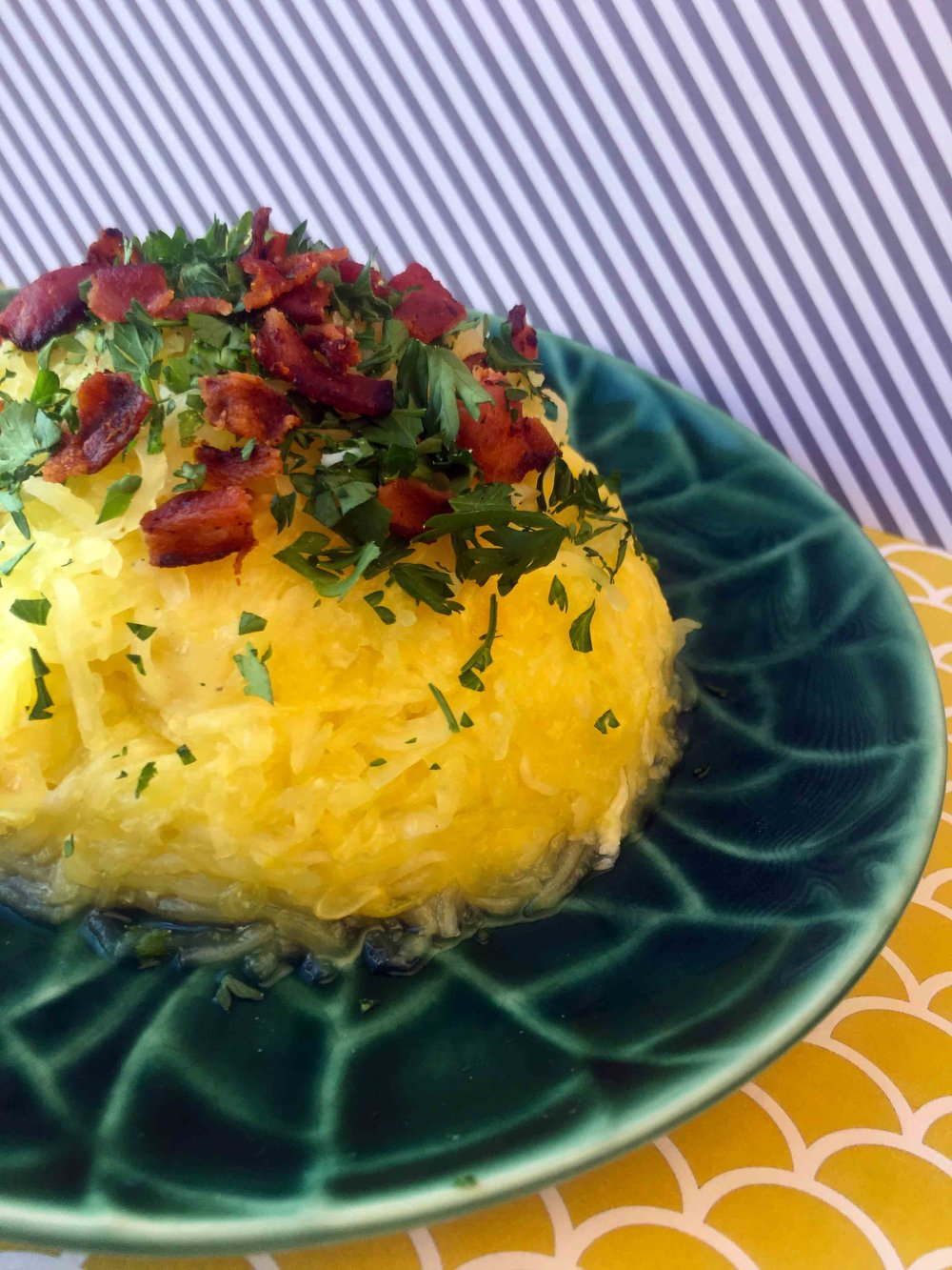Low Carb Spaghetti Squash Carbonara Recipe