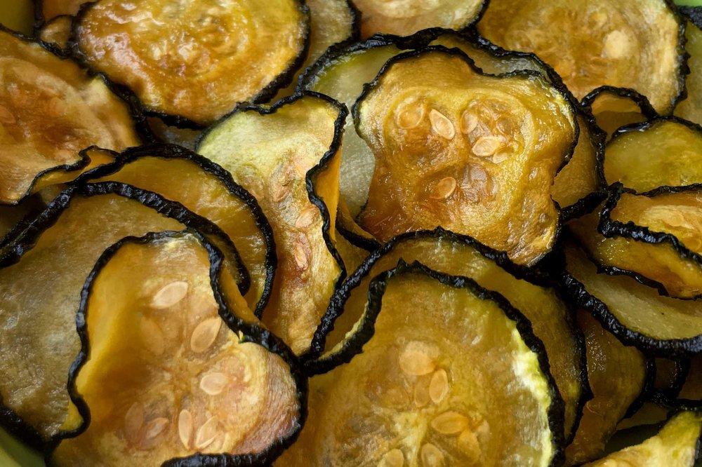 Low Carb Keto Crispy Zucchini Chip Recipe