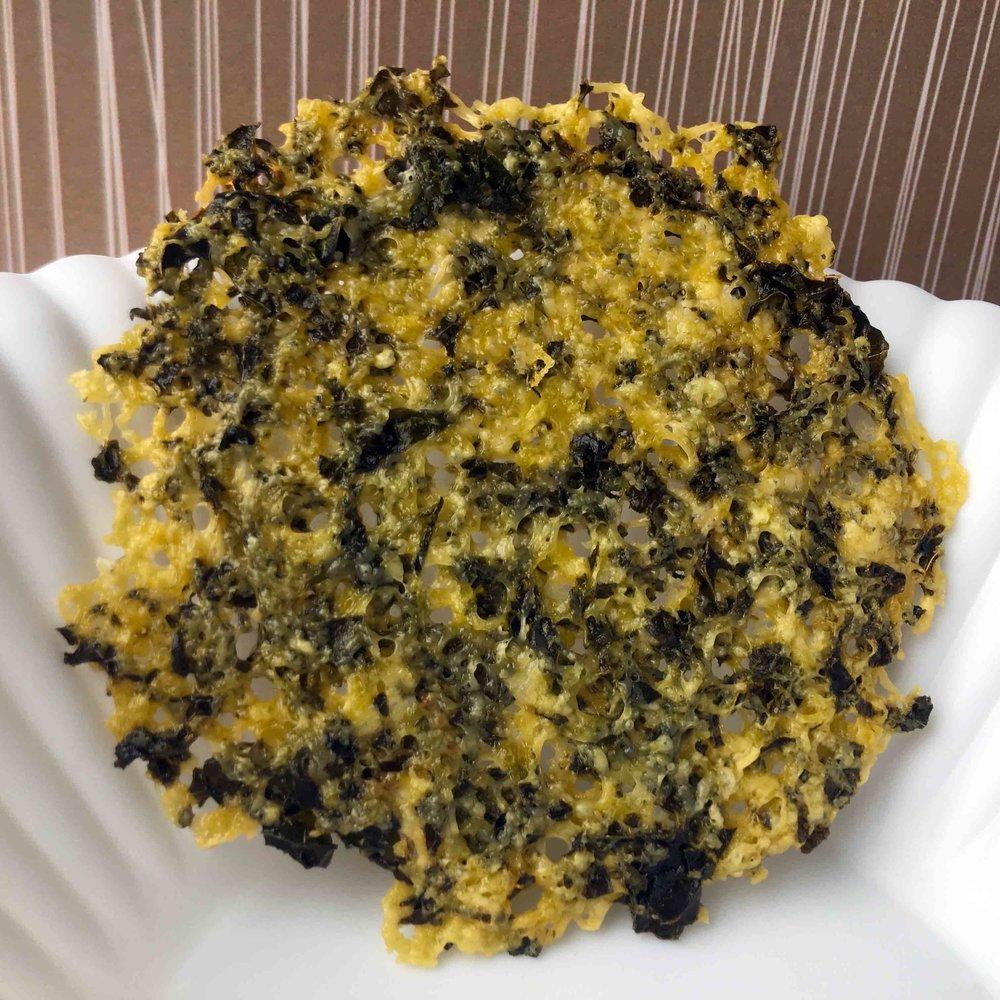 Low Carb Kale Parmesan Chip Recipe