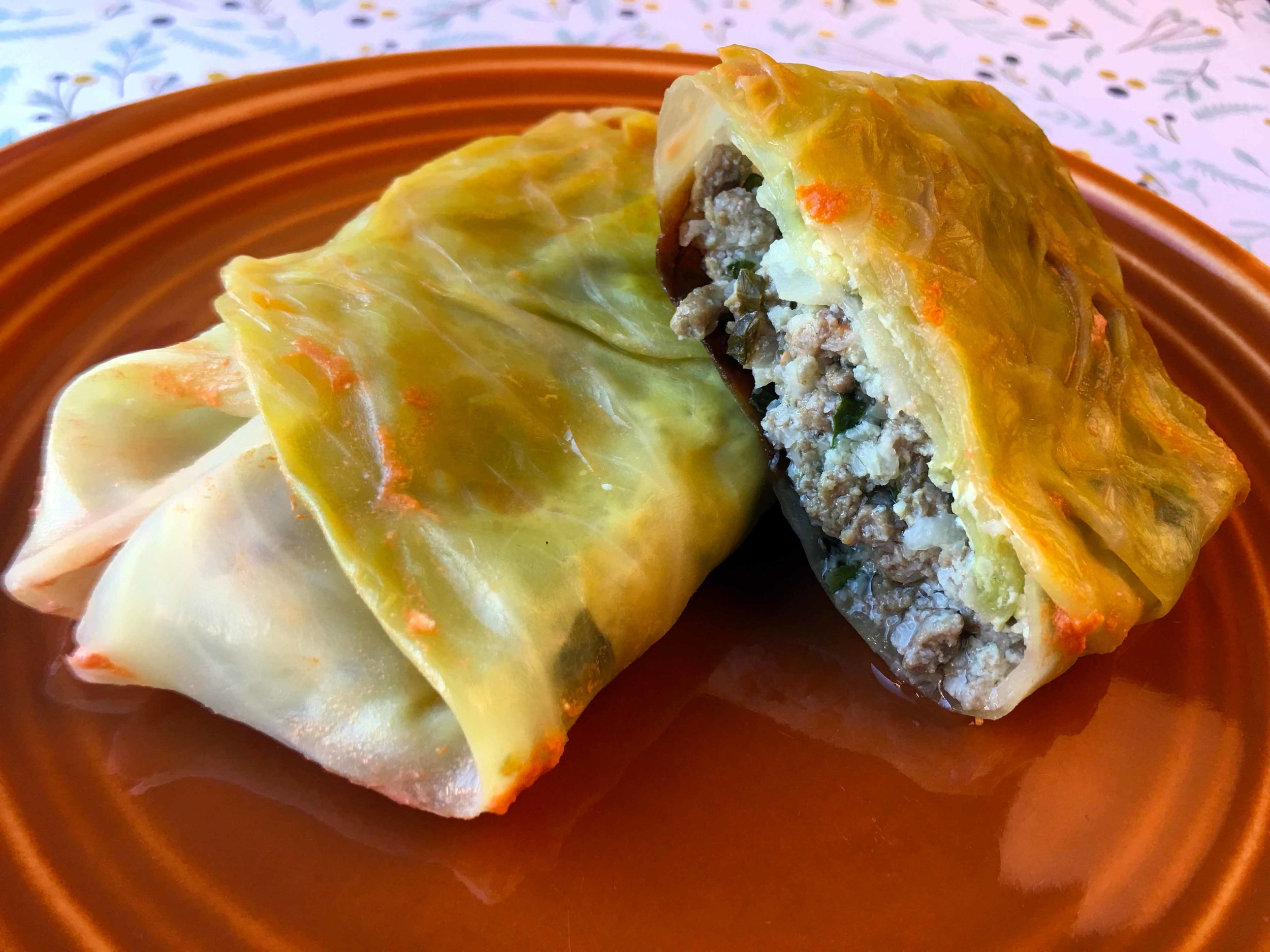Low Carb Stuffed Cabbage Rolls