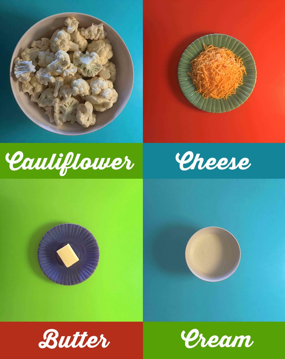 Low Carb Cauliflower Mac and Cheese Recipe Ingredients