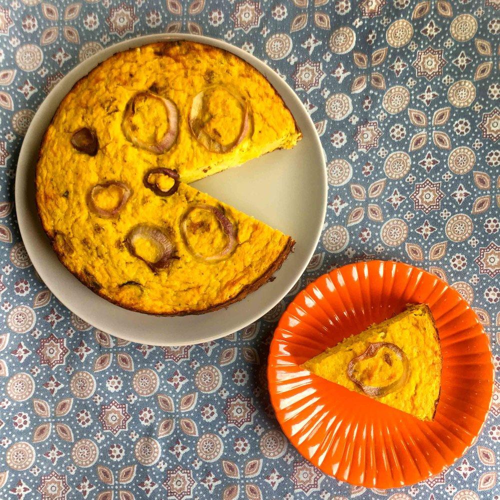 Low Carb Keto Savory Cauliflower Cake Recipe
