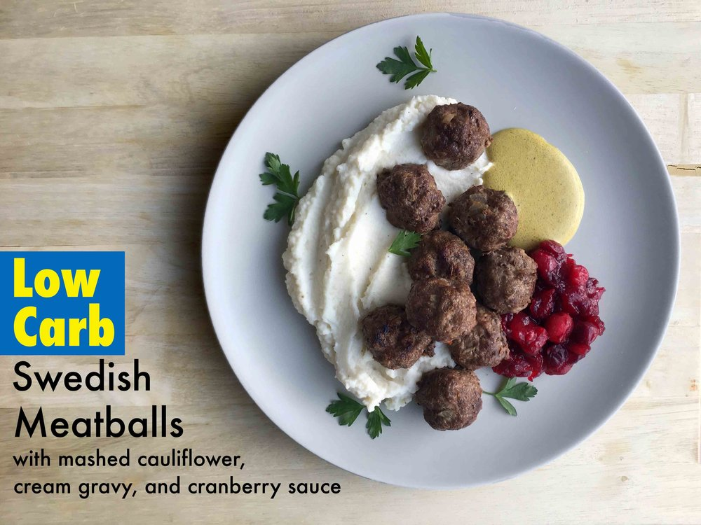 Low Carb Keto IKEA Meatball Meal Recipe