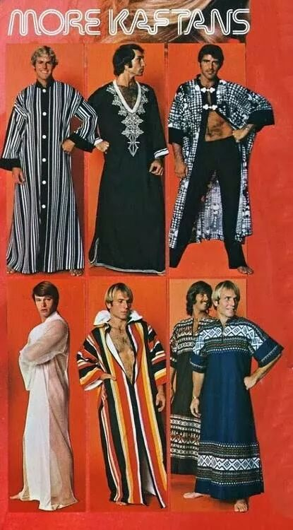 Retro Vintage Ad for Men's Kaftans