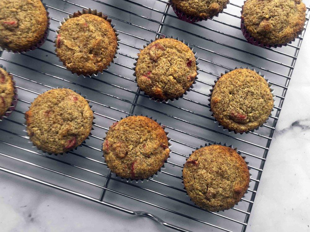 Low Carb Keto Grain Free Lemon Cranberry Pecan Muffin Recipe