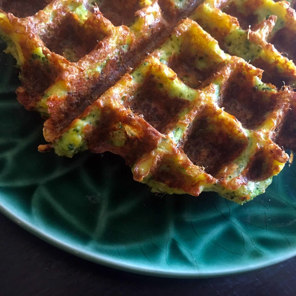 Low Carb Broccoli Cheese Waffle Recipe
