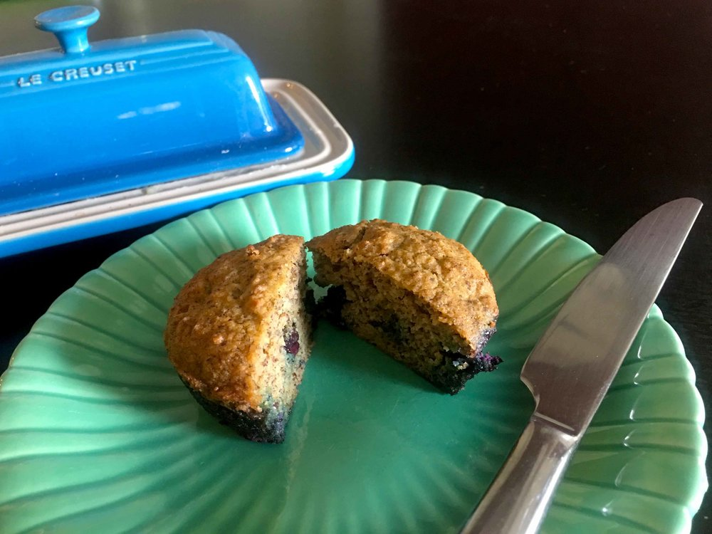 Low Carb Keto Blueberry Bran Muffin Recipe