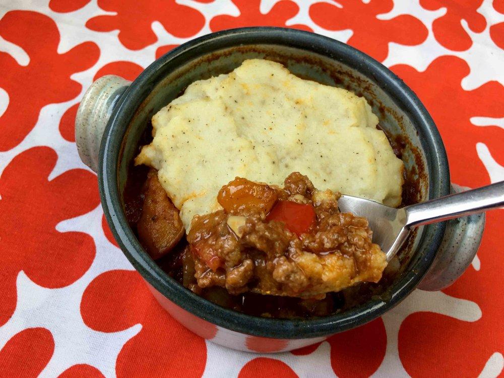 Low Carb Whole30 Keto Cauliflower Shepherd's Pie Recipe