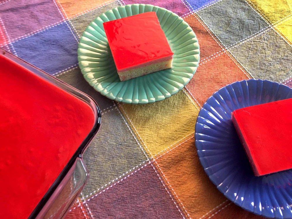 Low Carb Keto Strawberry Jello Layer Cake Recipe