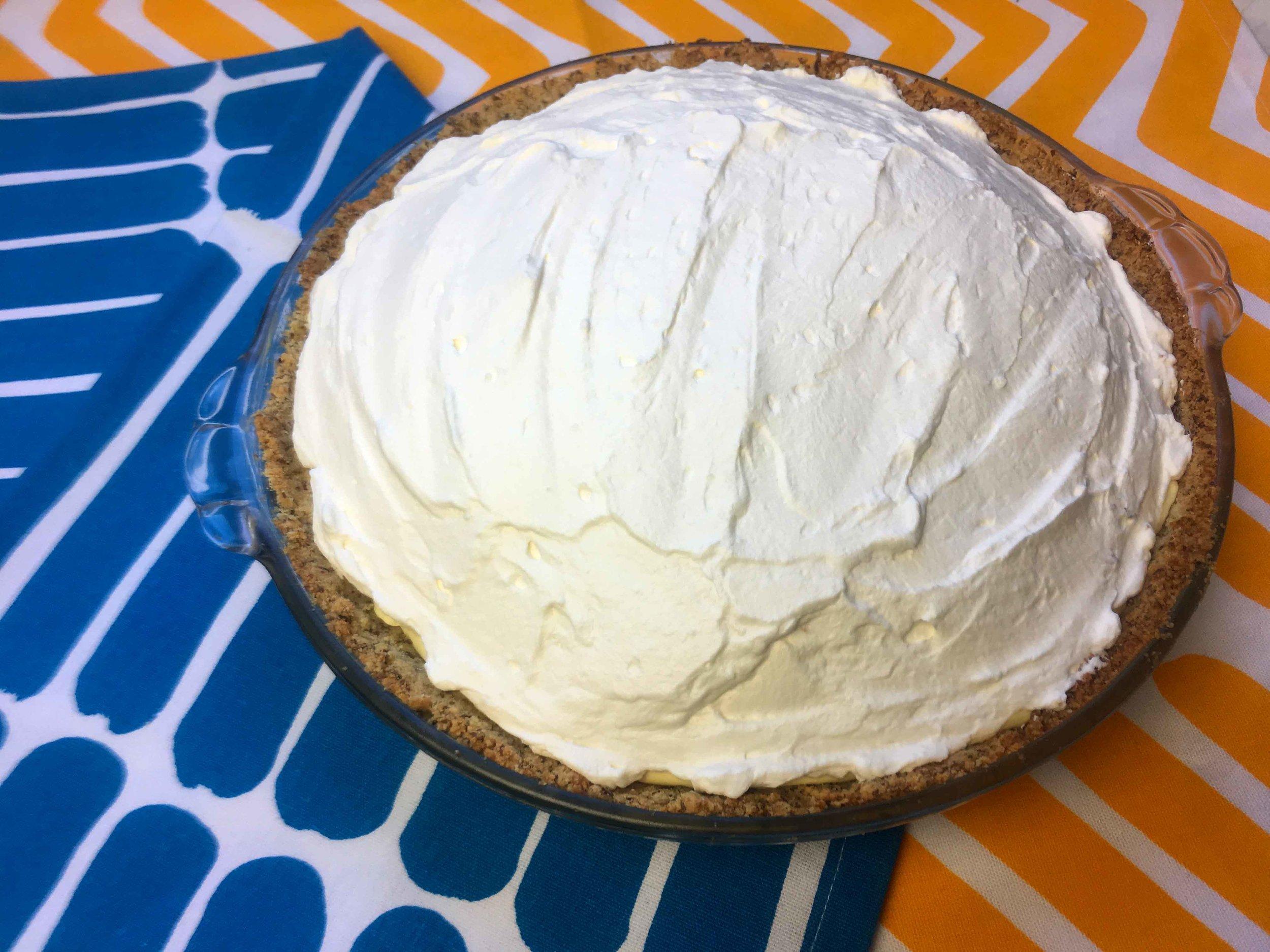 Keto Low Carb Banana Cream Pie Recipe