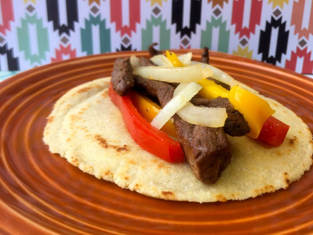 Keto Beef Fajitas on Low Carb Tortillas Recipe