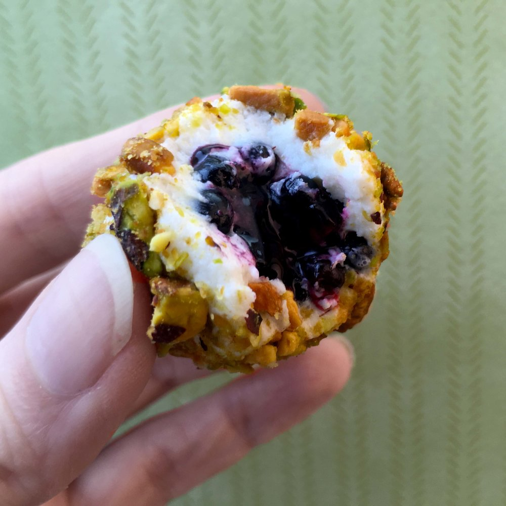 Low Carb Keto Goat Cheese and Pistachio Wrapped Blackberries Recipe