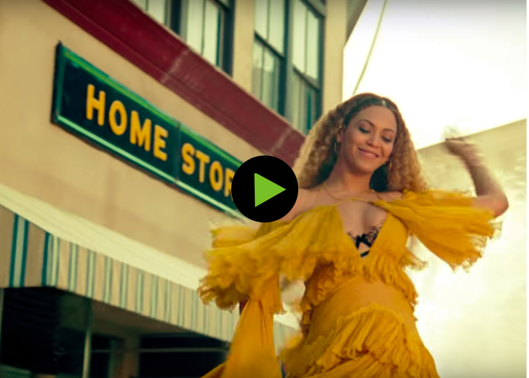 Still from Beyonce Hold Up video from Lemonade