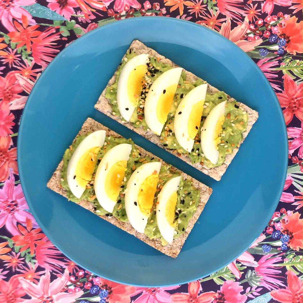 Low Carb Avocado Toast on Wasa Cracker Recipe