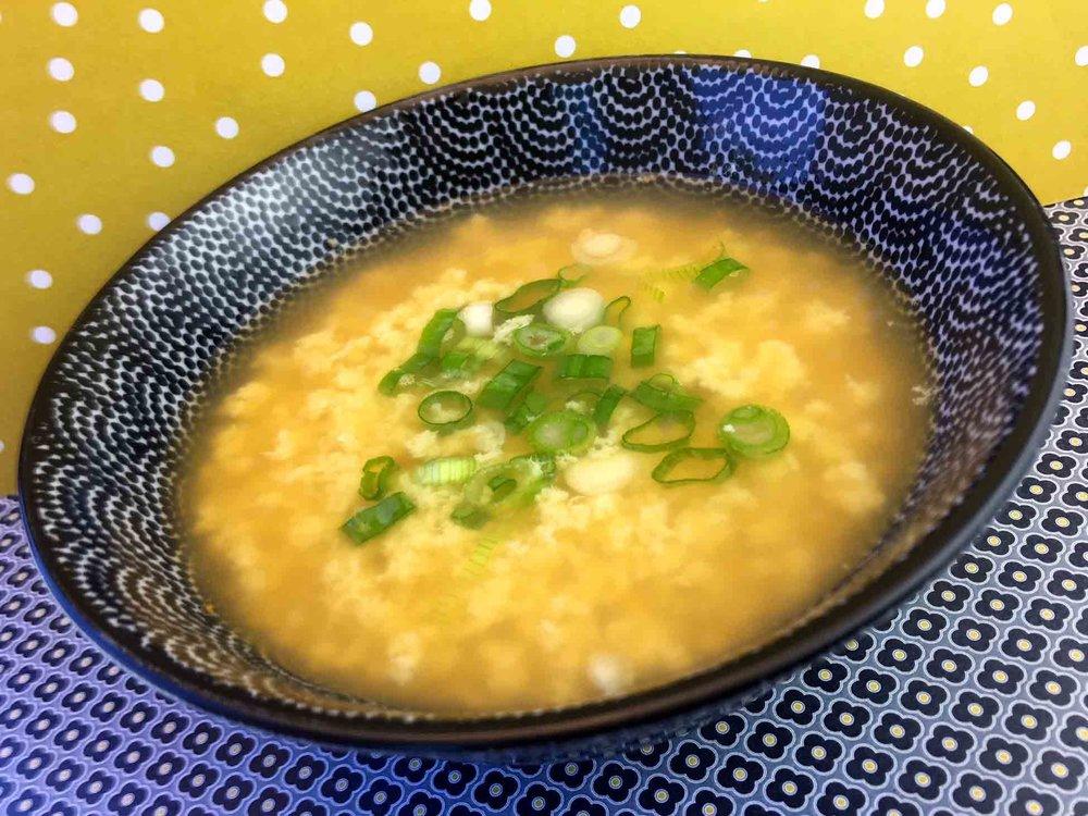 Low Carb Keto Gluten Free Egg Drop Soup Recipe