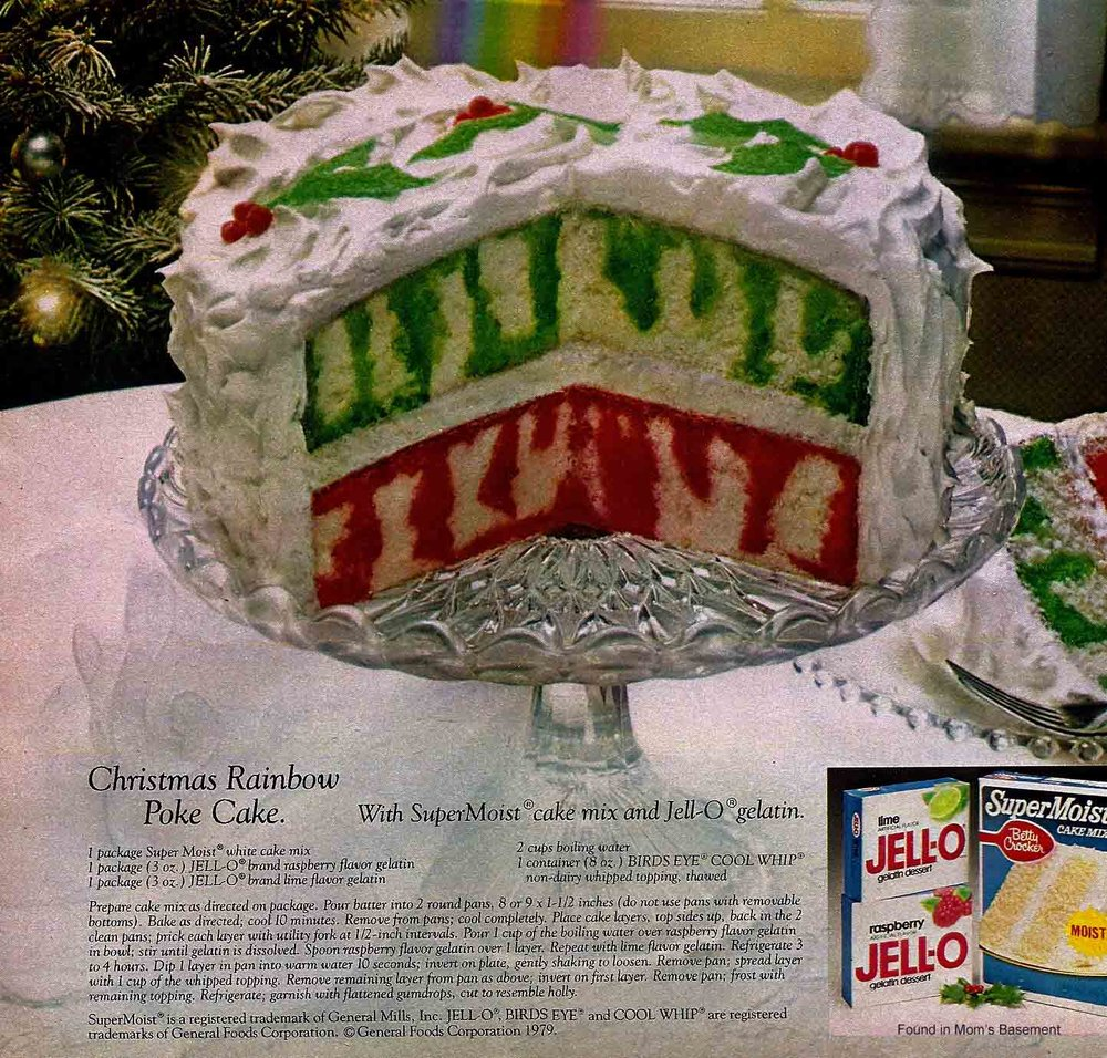 Old Jello Poke Cake Advertisement