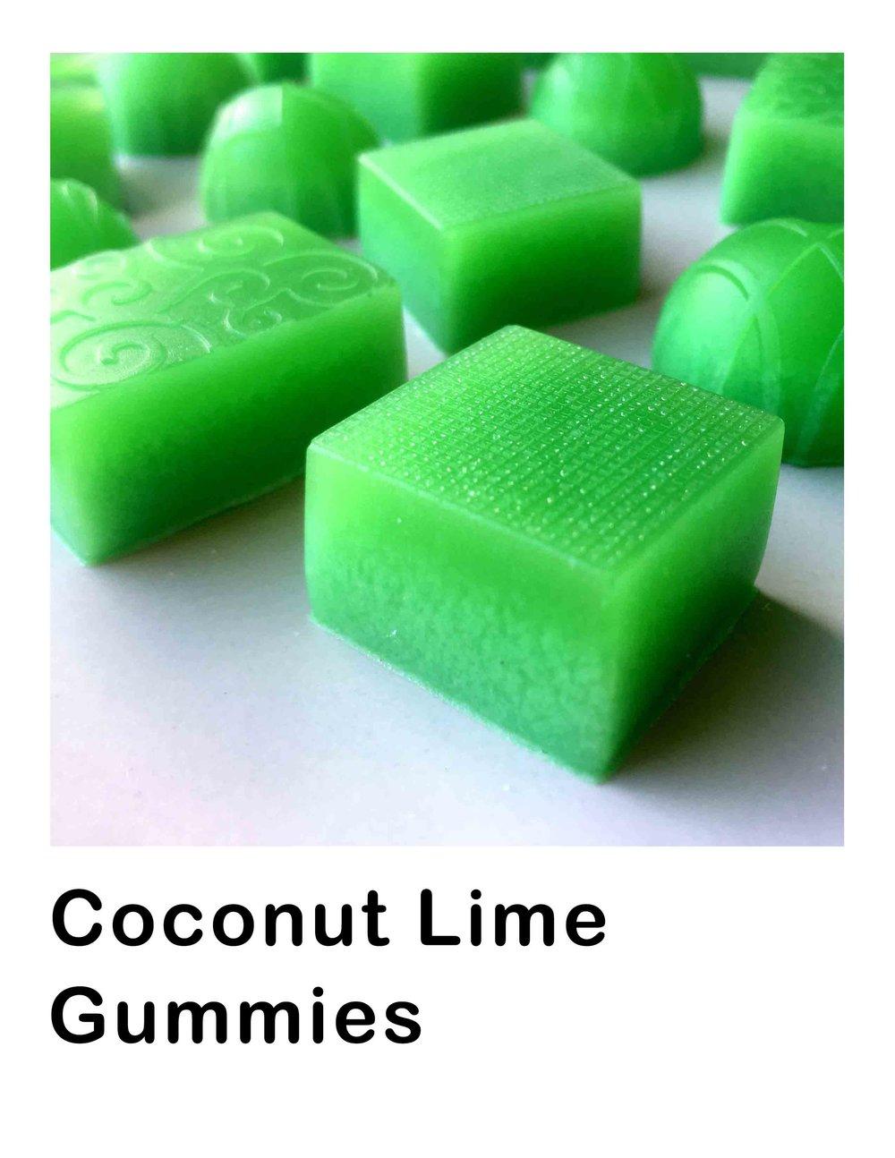 Low Carb Coconut Lime Gummies