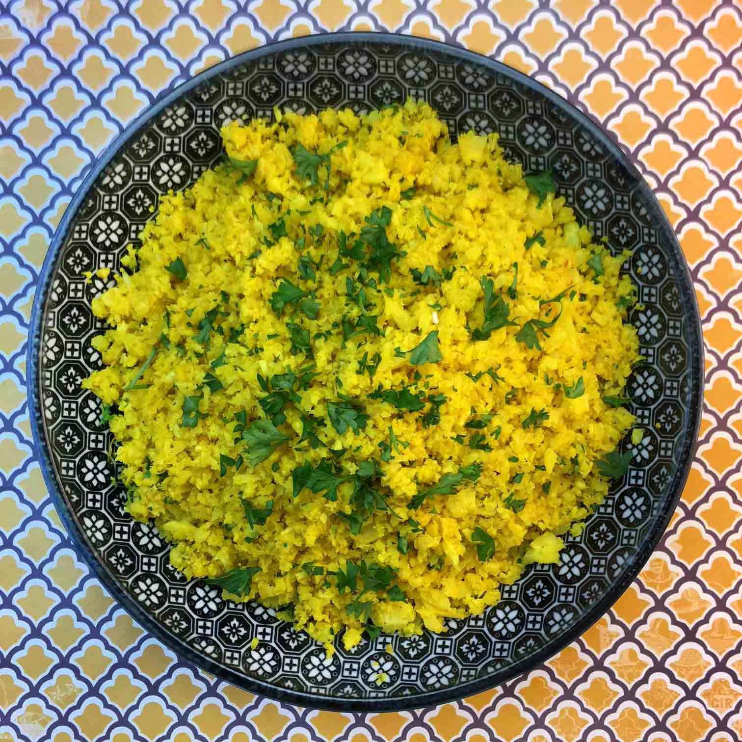 Low Carb Keto Lemon Cauliflower Rice Recipe
