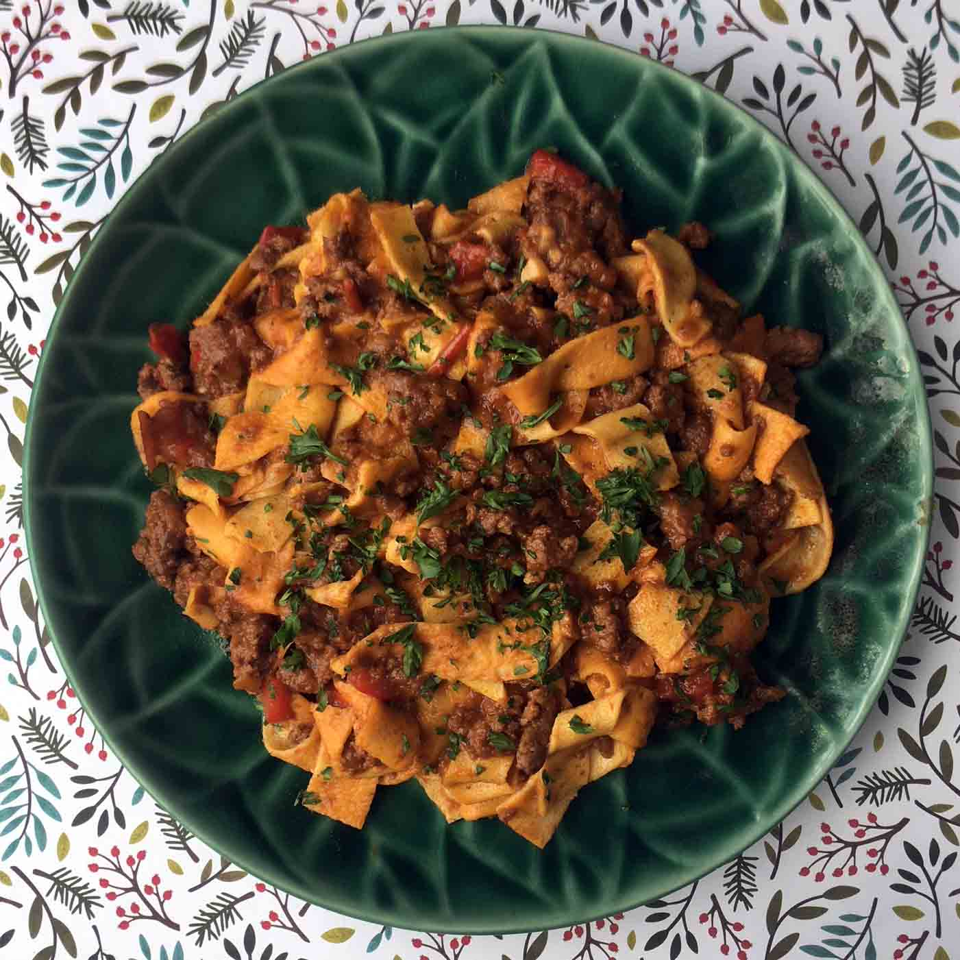 Low Carb Tagliatelle Bolognese Recipe