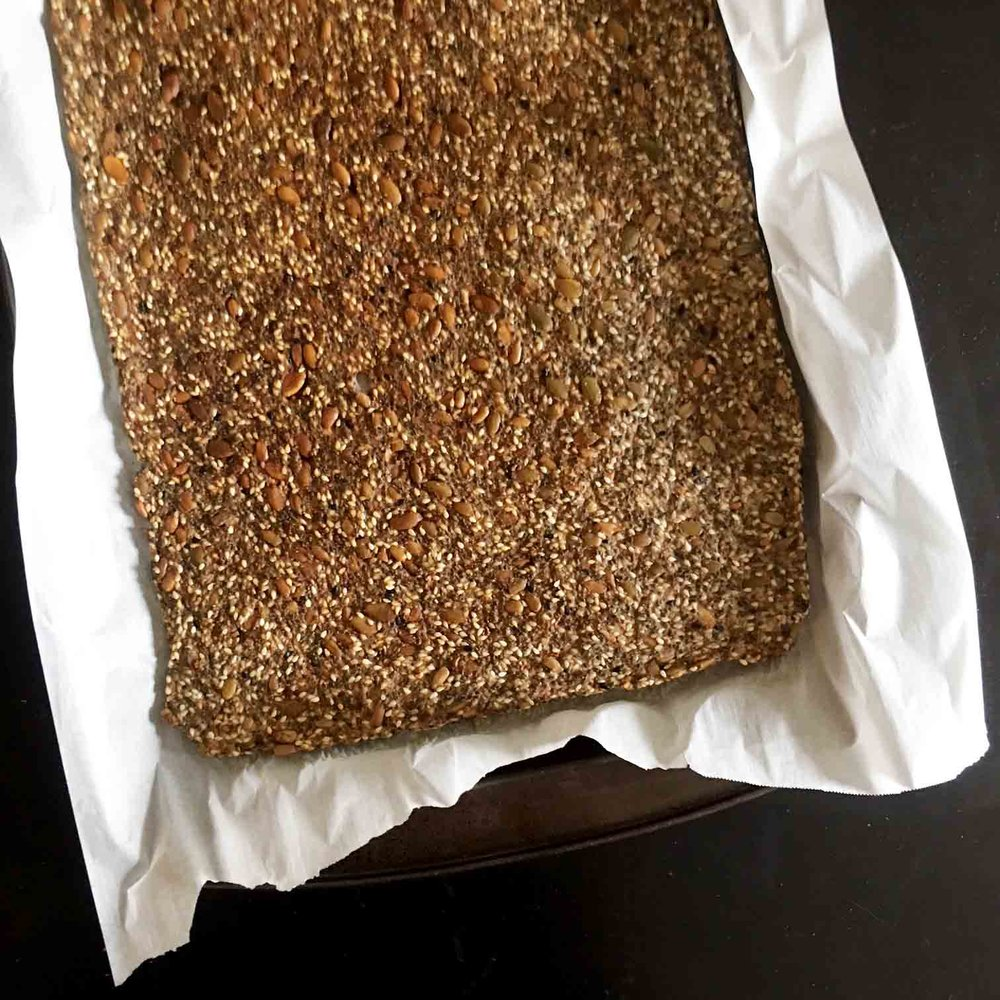 Low Carb Keto Everything Seed Cracker Recipe