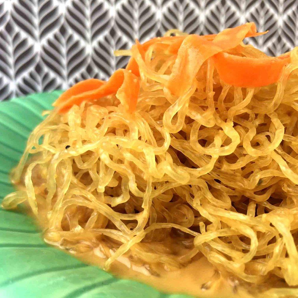 Low Carb Cold Peanut Noodle Salad with Kelp Noodles Recipe