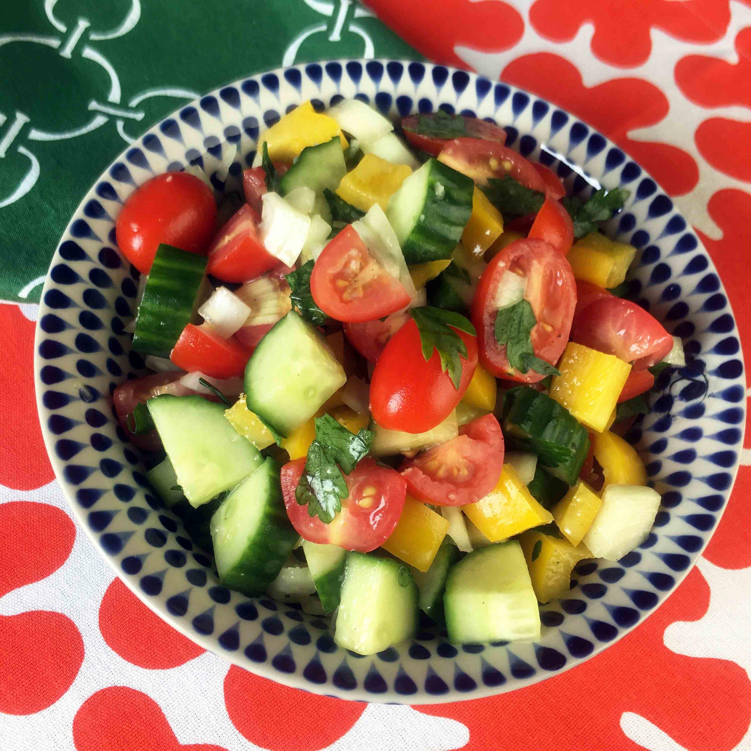 Low Carb Keto Paleo Lebanese Salad Recipe