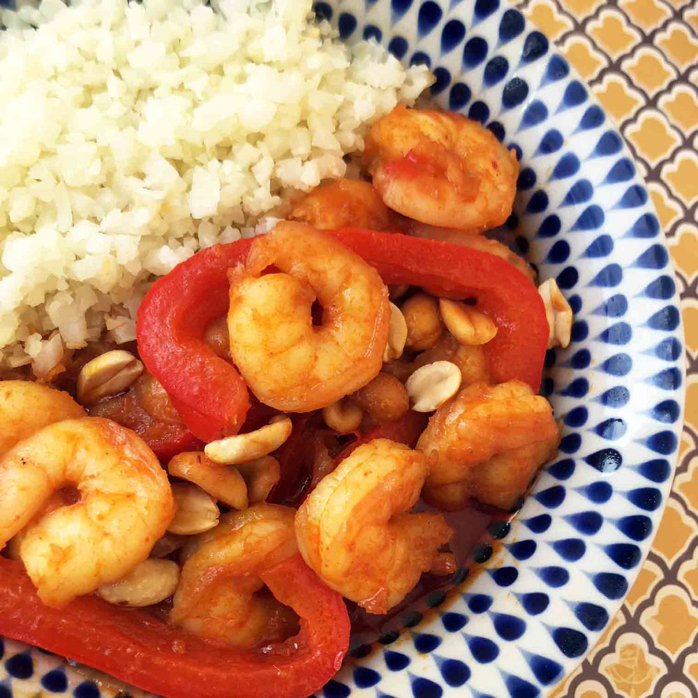 Low Carb Keto Thai Shrimp Curry Recipe