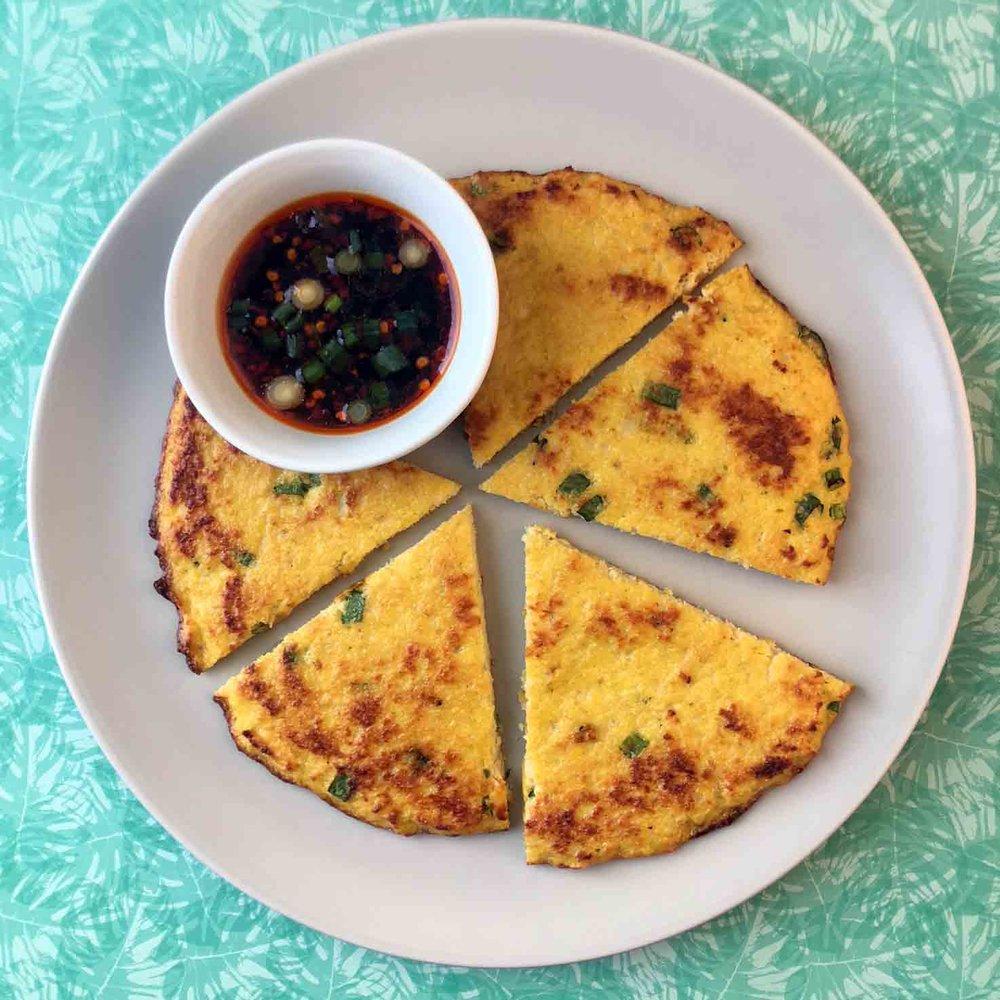 Low Carb Keto Scallion Pancake Recipe