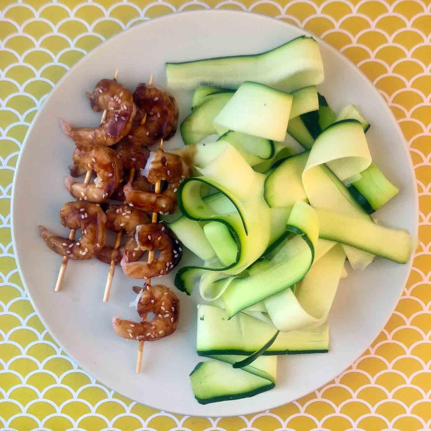 Low Carb Keto Teriyaki Shrimp Skewers Recipe