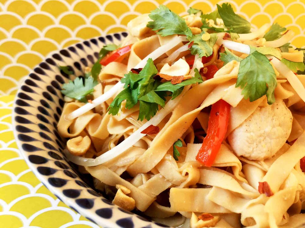 Low Carb Keto Chicken Pad Thai Recipe