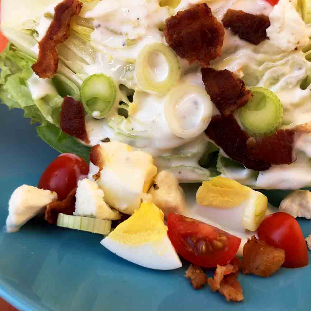 Low Carb Keto Wedge Salad Recipe