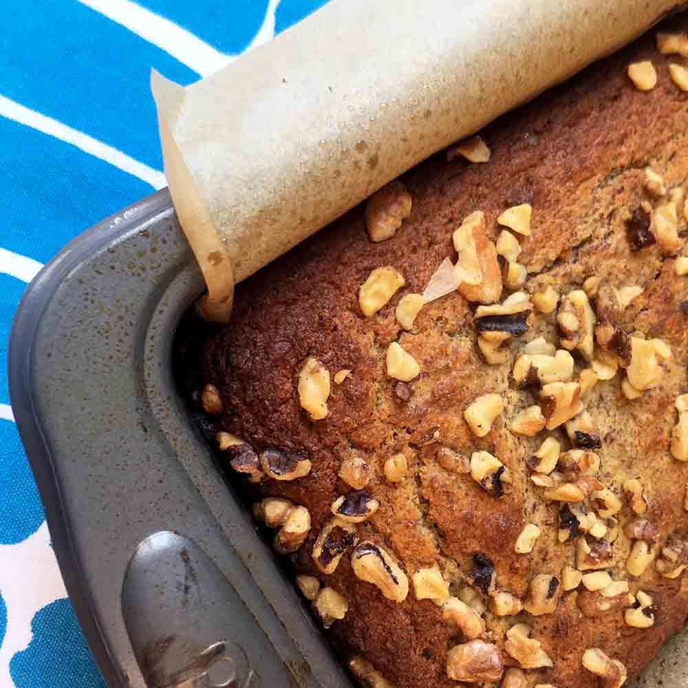 Low Carb Keto Banana Walnut Bread Recipe