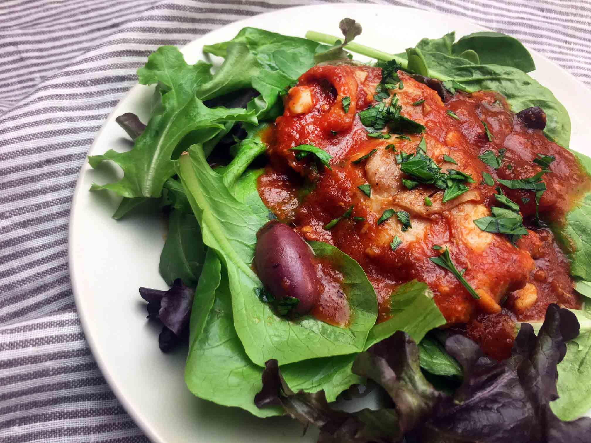 Low Carb Keto Chicken Puttanesca Recipe