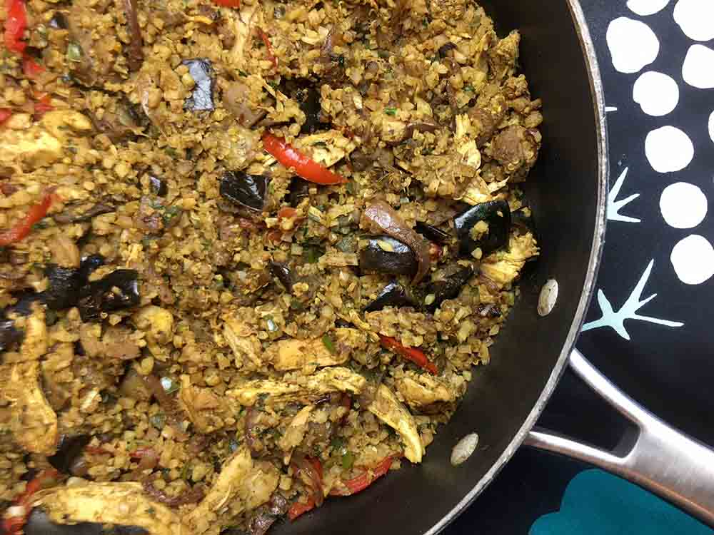 Low Carb Keto Chicken and Eggplant Biryani Recipe