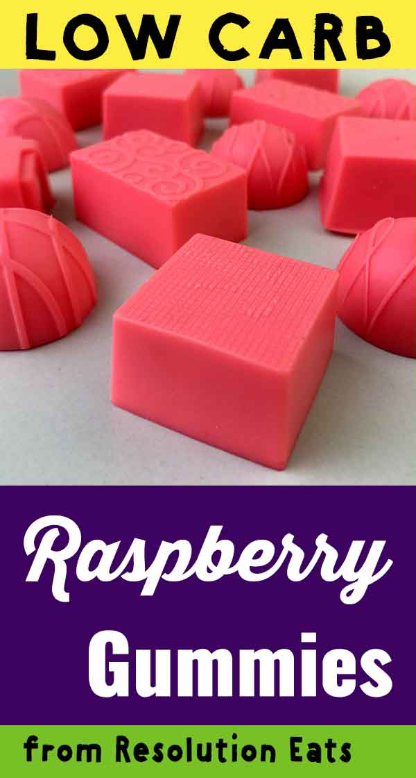 Low Carb Keto Jello Raspberry Gummies Recipe