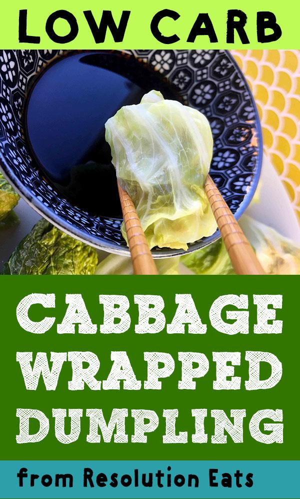 Low Carb Keto Cabbage Wrapped Pork Dumpling Recipe