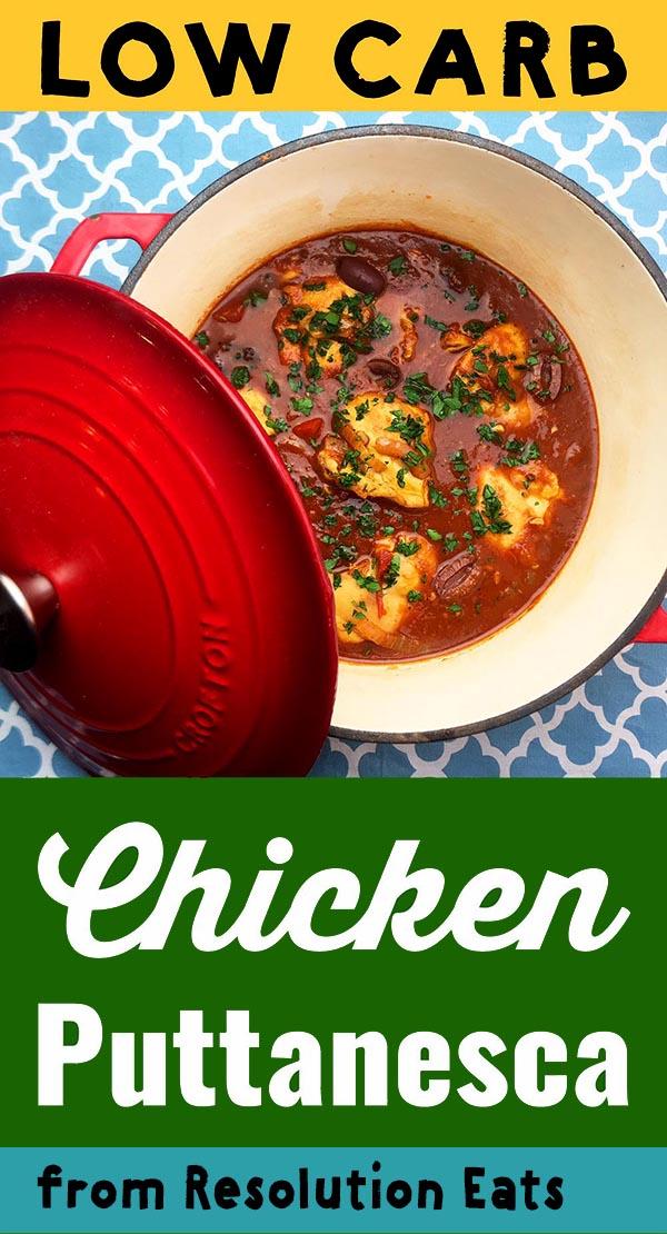 Low Carb Keto Paleo Chicken Puttanesca Recipe