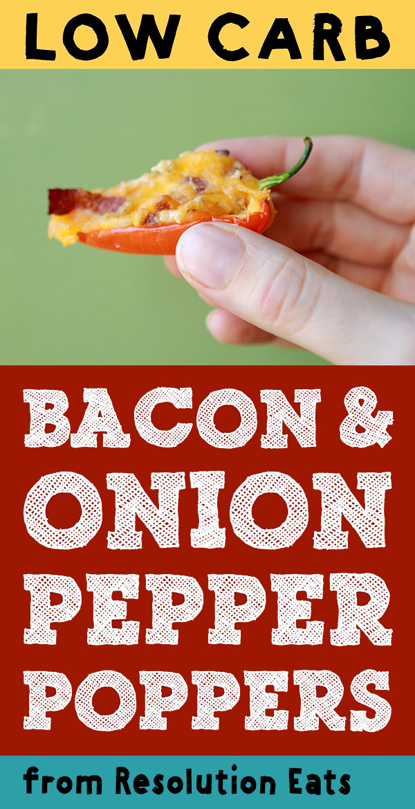 LOW CARB KETO BACON AND ONION PEPPER POPPERS RECIPE