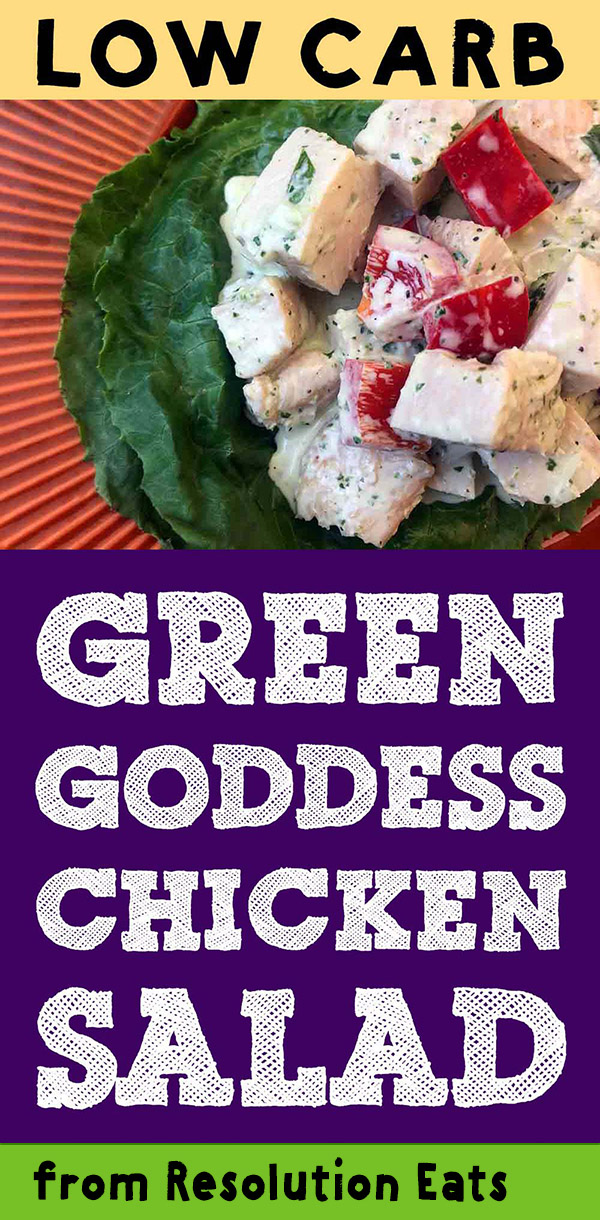 Low Carb Keto Paleo Green Goddess Chicken Salad Recipe