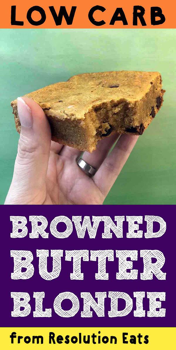 Low Carb Browned Butter Tahini Blondie Recipe