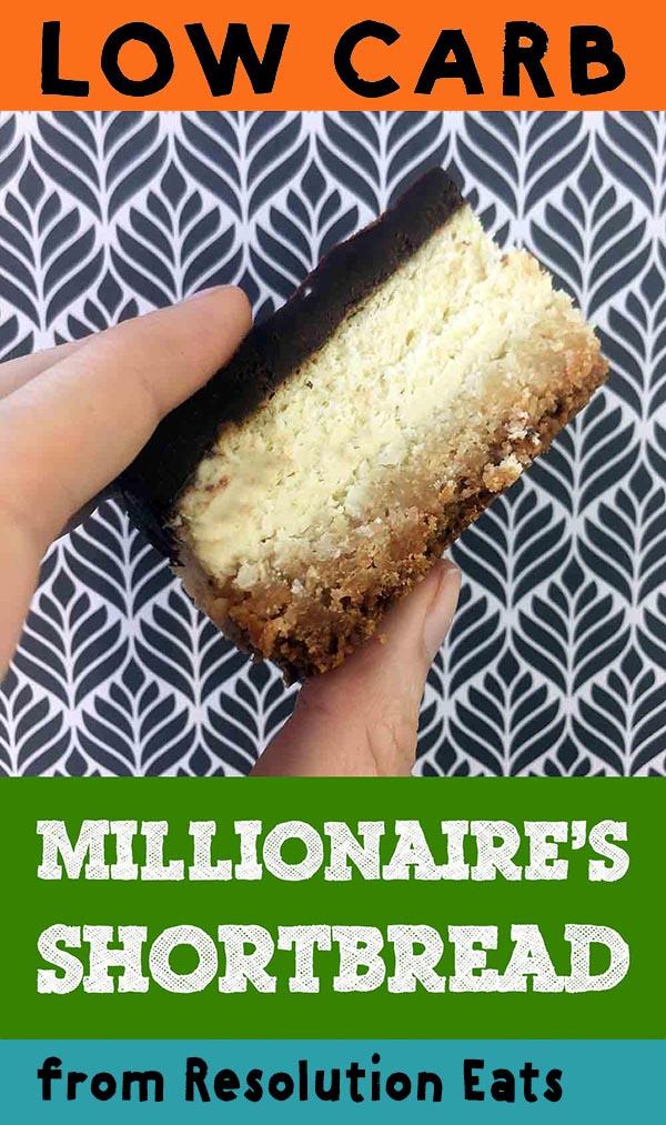 Low Carb Keto Millionaire's Shortbread Recipe