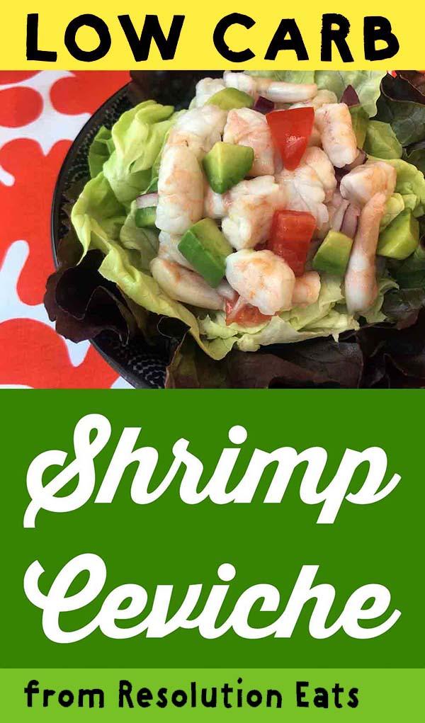 Low Carb Keto Paleo Shrimp Avocado Ceviche Recipe